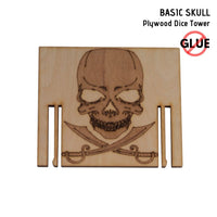 Dice Towers - e-Raptor - Basic Skull - Plywood - engraved