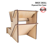 Dice Towers - e-Raptor - Basic Skull - Plywood - rear