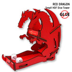 e-Raptor - Red Dragon - Small HDF Dice Tower 1pk - front & side view