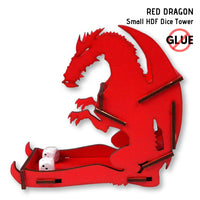 Dice Towers - e-Raptor - Red Dragon - Small HDF Dice Tower - side view