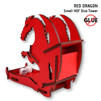 Dice Towers - e-Raptor - Red Dragon - Small HDF Dice Tower - rear & side view