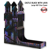 Dice Towers - e-Raptor - Castle Black: Large HDF Dice Tower - side view