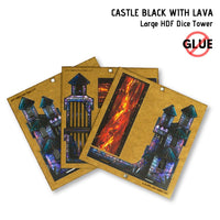 Dice Towers - e-Raptor - Castle Black: Large HDF Dice Tower - assembly
