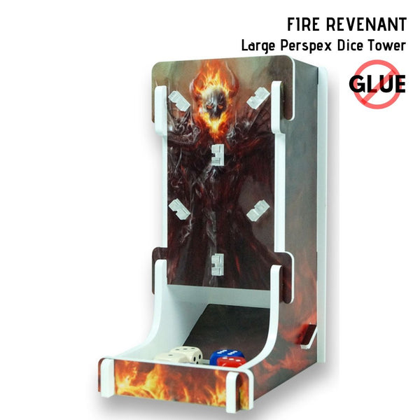 Fire Revenant - Large Perspex Dice Tower 1pk  ||  e-Raptor Dice Towers