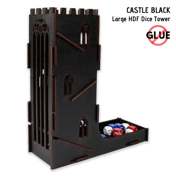 Dice Towers - e-Raptor - Castle Black - Large HDF Dice Tower
