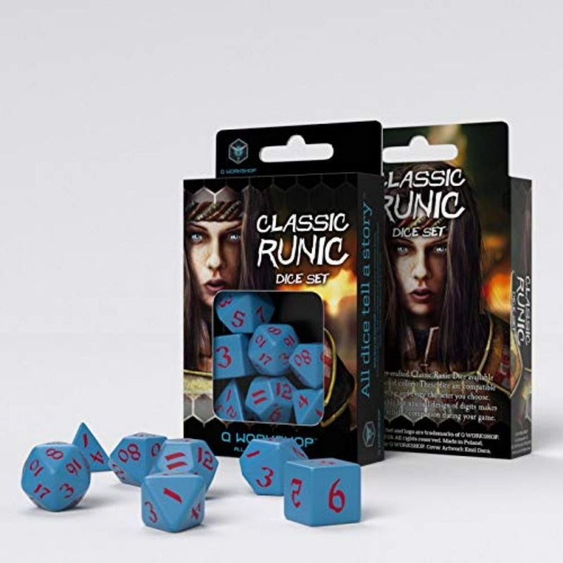 DnD dice - qworkshop blue and red dice