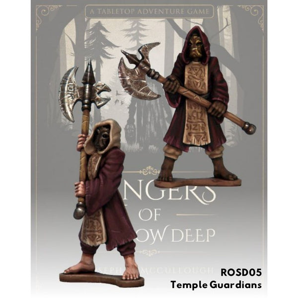 Temple Guardians - Unpainted miniatures - Rangers of Shadow Deep Australia