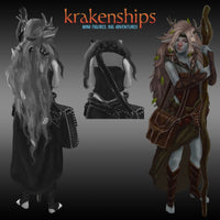 DnD Miniatures - Female Firbolg Druid - krakenship miniatures - artwork