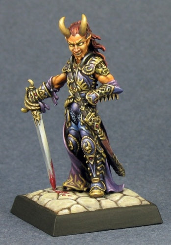 Reaper Miniatures - Tiefling Fighter Rogue - painted