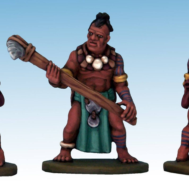 Frostgrave - ghost archipelago tribals - d&d barbarian miniature