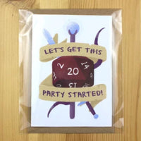 Birthday Card - Let's Get This Party Started - DND Australia