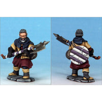 Frostgrave Soldiers - plastic dnd minis - infantryman axe