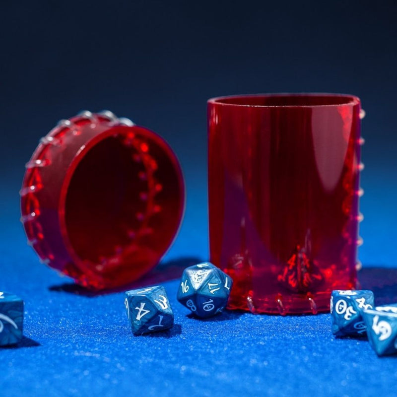 age of plastic red dice cup - transparent pvc