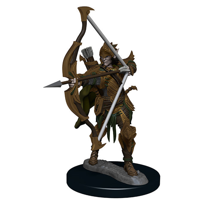 Pathfinder Miniatures - Male Elf Fighter Bow - painted