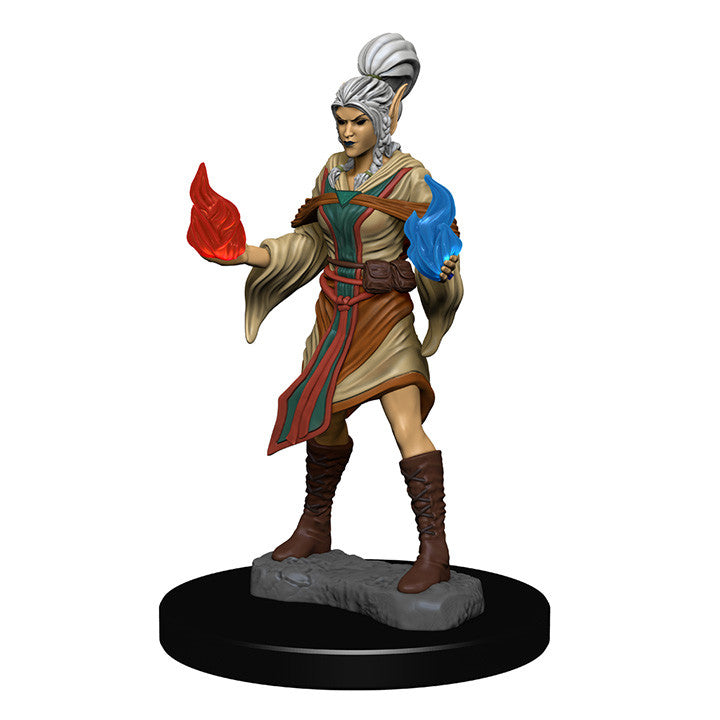 Pathfinder Minis - Female Elf Sorcerer - painted