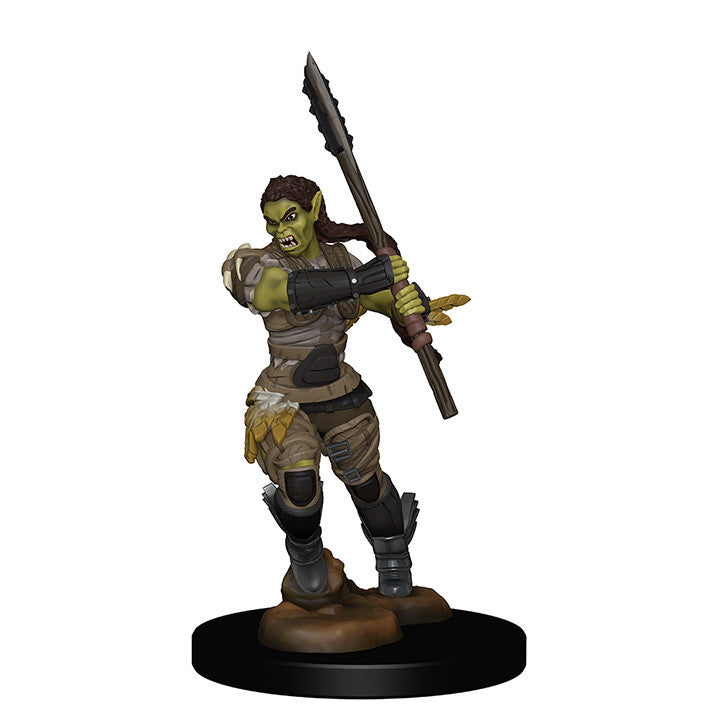 Pathfinder Minis - Female Half Orc Barbarian with Spear - painted