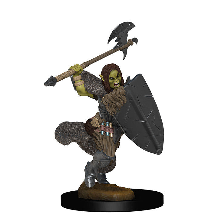 Pathfinder Miniatures - Female Half Orc Barbarian with Axe - painted