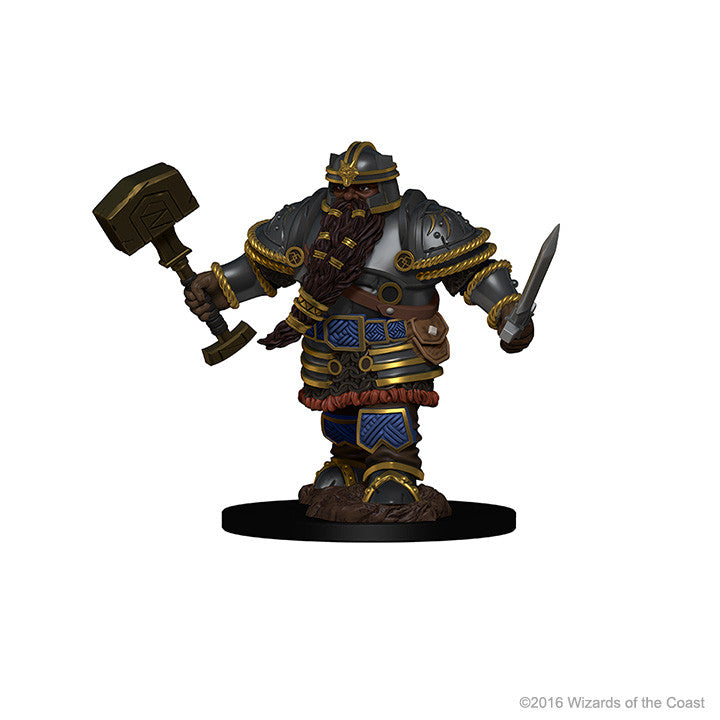 D&D Minis - Male Dwarf Fighter - painted