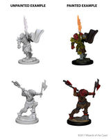 D&D Minis - Female Dragonborn Fighter with Flaming Sword or Axes