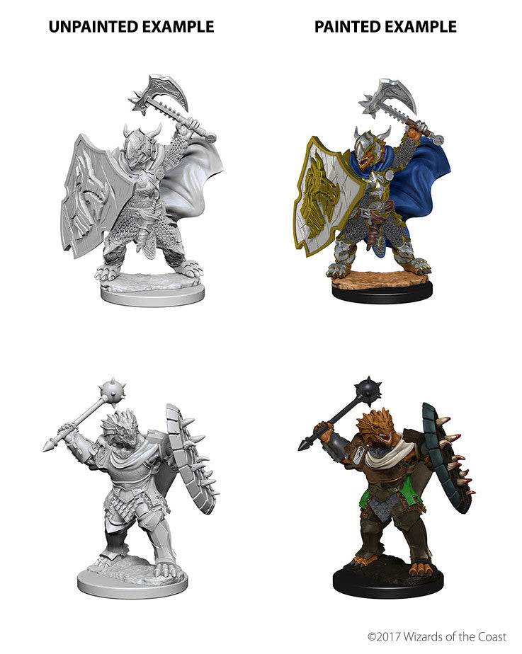 D&D Minis - Male Dragonborn Paladin with Axe or Mace