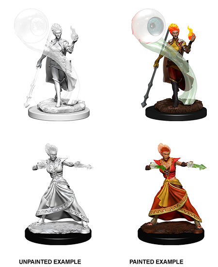 D&D Minis - Female Fire Genasi Wizard