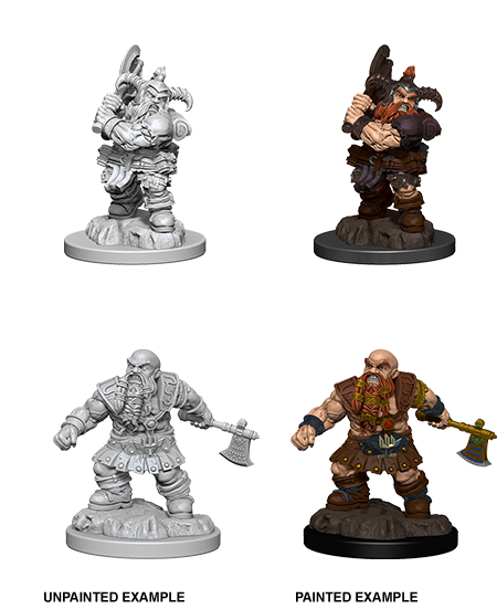 D&D Minis - Male Dwarf Barbarian with Axe