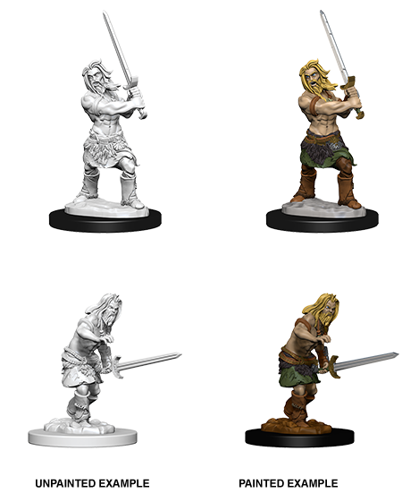 Pathfinder Miniatures - Male Human Barbarian