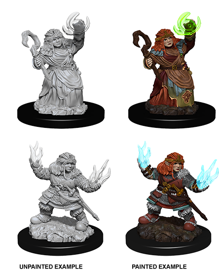 Pathfinder Miniatures - Female Dwarf Summoner