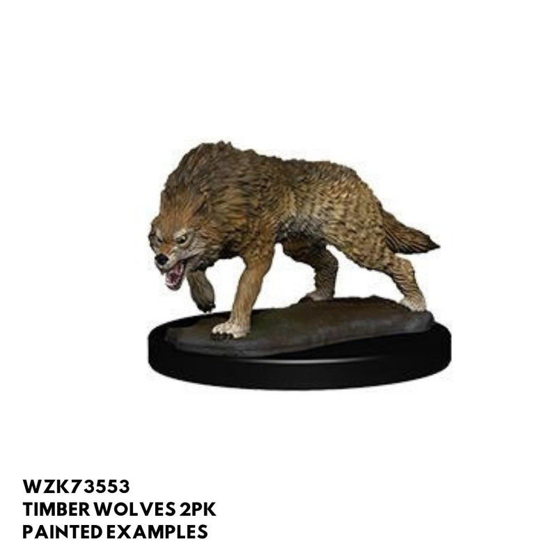 Pathfinder Miniatures - Timber Wolf - painted