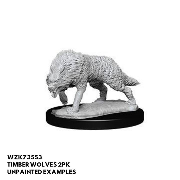 Unpainted Timber Wolf