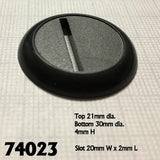 Miniature Bases - 30mm Round Slotted
