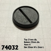 Miniature Bases - 25mm slotted