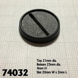 "1"" (25mm) Round Plastic Gaming Base with Slot 20pk  
