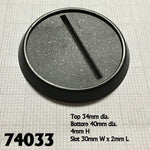 40mm Round Plastic Gaming Base with Slot 10pk  ||  Reaper Bases