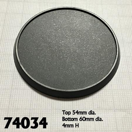 60mm Round Plastic Gaming Base 10pk  ||  Reaper Bases