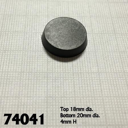 20mm Round Plastic Flat Top Base 25pk  ||  Reaper Bases
