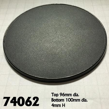 "4"" (100mm) Round Gaming Base 4pk  