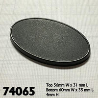 Miniature Bases - 60mm x 35mm Oval Base