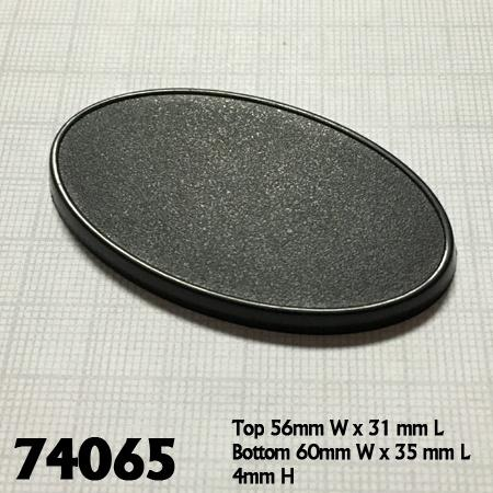 60mm x 35mm Oval Gaming Base 10pk  ||  Reaper Bases