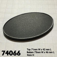 Miniature Bases - 75mm x 46mm Oval Base