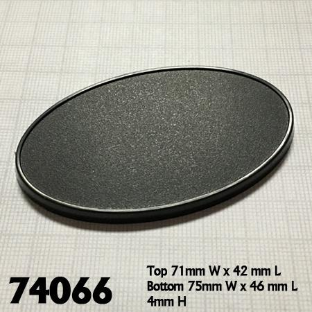 75mm x 46mm Oval Gaming Base 10pk  ||  Reaper Bases