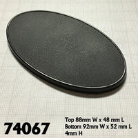 Miniature Bases - 90mm x 52mm Oval Base