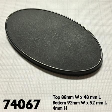 90mm x 52mm Oval Gaming Base 10pk  ||  Reaper Bases