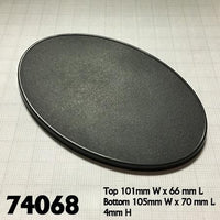 Miniature Bases - 105mm x 70mm Oval Base