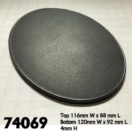 120mm x 92mm Oval Gaming Base 4pk  ||  Reaper Bases