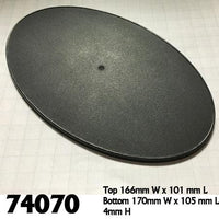 170mm x 105mm Oval Gaming Base 4pk  ||  Reaper Bases