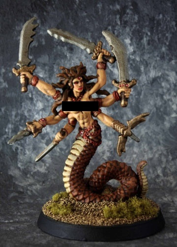 Reaper Miniatures - Snake Demon Marilith - painted