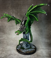 Reaper Miniatures - Green Temple Dragon - painted