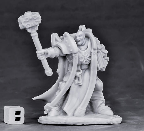 Reaper Miniatures - Crusader Ardent with Hammer - unpainted