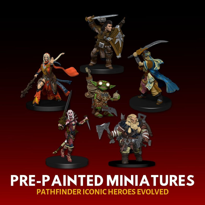 Pathfinder Miniatures - Pathfinder Battles: Iconic Heroes Evolved - Pre-painted miniatures